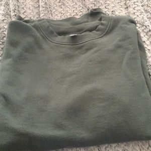 Aerie long sleeve green sweatshirt